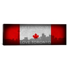 Keep Calm and Love Toronto II Textual Art on Canvas
