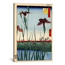 Ando Hiroshige 'Horikiri Iris Garden 1857' by Utagawa Hiroshige l Graphic Art on Canvas