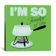 "Kitchen ""I Am So Fondue of You"" Canvas Art"