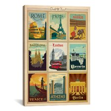 'Europe Collection' by Anderson Design Group Vintage Advertisement on Canvas