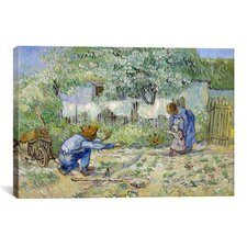 'First Steps (after Millet)' by Vincent van Gogh Painting Print on Canvas