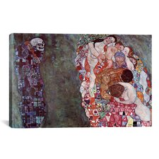 'Death and Life' by Gustav Klimt Painting Print on Canvas
