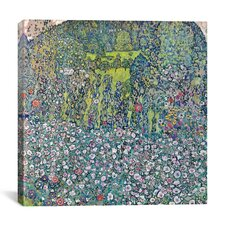 """Garden Landscape on the Hill"" Canvas Wall Art by GustavKlimt"