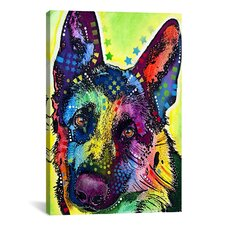 'German Shepherd' by Dean Russo Graphic Art on Canvas