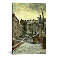 'Houses Seen from the Back' by Vincent Van Gogh Painting Print on Canvas