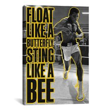 Float like a Butterfly Sting Like a Bee by Muhammad Ali Graphic Art on Canvas