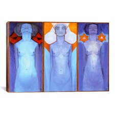 'Evolution, 1911' by Piet Mondrian Painting Print on Canvas