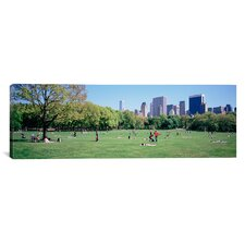 Panoramic Sheep Meadow, Central Park, New York City Photographic Print on Canvas