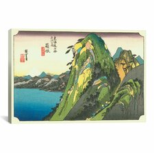 Ando Hiroshige 'Hakone (Lake View)' by Utagawa Hiroshige l Graphic Art on Canvas