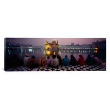 Panoramic Golden Temple, Amritsar, India Photographic Print on Canvas
