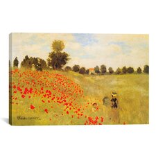 'Field of Poppies' by Claude Monet Painting Print on Canvas