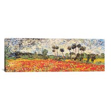 'Field of Poppies' by Vincent van Gogh Painting Print on Canvas
