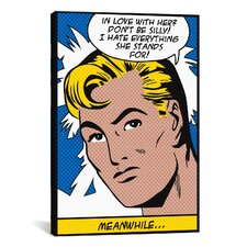 'In Love with Her (Roy Lichtenstein - Comic Books)' Graphic Art on Canvas