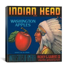Indian Head Apples Vintage Crate Label Poster