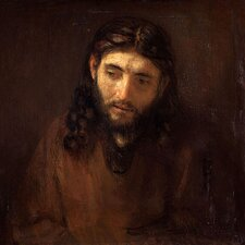 """Head of Christ"" Canvas Wall Art by Rembrandt"