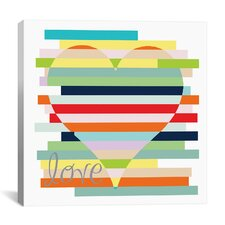 """Heart Rainbow"" Canvas Wall Art by Erin Clark"