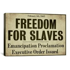 'Emancipation' by Color Bakery Textual Art on Canvas