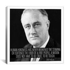 Franklin D. Roosevelt Quote Canvas Wall Art