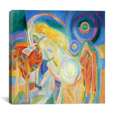 """Femme Nue Lisant Nude Woman Reading"" Canvas Wall Art by Robert Delaunay"