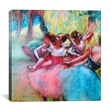 'Four Ballerinas on the Stage' by Edgar Degas Painting Print on Canvas