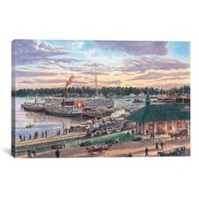 'Harbor Springs Mich' by Stanton Manolakas Painting Print on Canvas