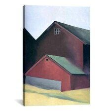 'Ends of Barns' by Georgia O'Keeffe Painting Print on Canvas