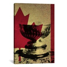 Canada Hockey, Stanley Cup Graphic Art on Canvas