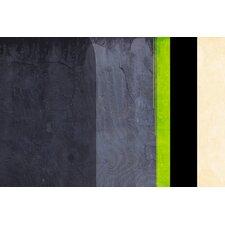 'Honeydew Slate Striped' Graphic Art on Canvas