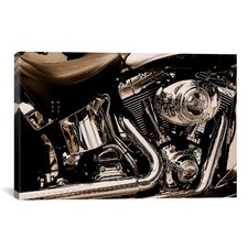 Photography Harley Motorcycle Photographic Print on Canvas