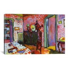 'Interior (My Dining Room)' by Wassily Kandinsky Painting Print on Canvas