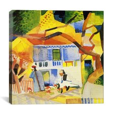 """Inner Courtyard of the Country House"" Canvas Wall Art by August Macke"