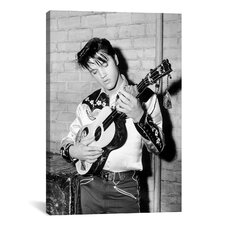Elvis Presley Playing a Guitar, 1950's Photographic Print on Canvas