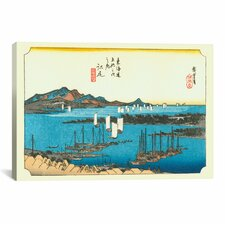 'Ejiri' by Utagawa Hiroshige Painting Print on Canvas