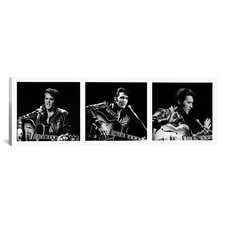 Elvis Presley on Stage 1968 Photographic Print on Canvas