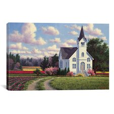 'Conway Church 2' by Randy Van Beek Painting Print on Canvas