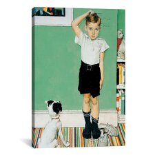'He Is Going to Be Taller than Dad' by Norman Rockwell Painting Print on Canvas