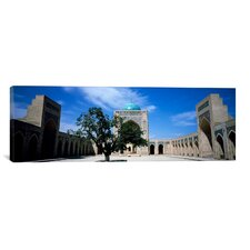Panoramic Courtyard of a Mosque, Kalon Mosque, Bukhara, Uzbekistan Photographic Print on Canvas