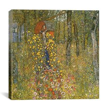 """Farm Garden with Crucifix"" Canvas Wall Art by Gustav Klimt"
