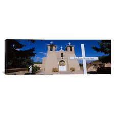 Panoramic San Francisco De Asis Church, Ranchos De Taos, New Mexico Photographic Print on Canvas