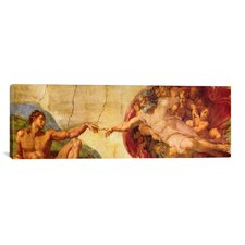 'Creation of Adam' by Michelangelo Painting Print on Canvas