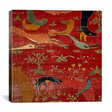 File Carpet from Indian Mughal Empire Canvas Wall Art