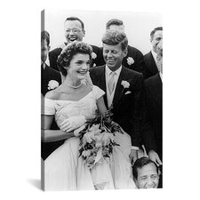 'File John and Jackie Kennedy Wedding' by Toni Frissell Photographic Print on Canvas