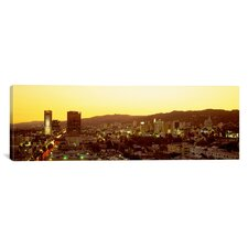 Panoramic Hollywood Hills, California Photographic Print on Canvas