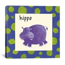 Hippo from Esteban Studio Collection Canvas Wall Art