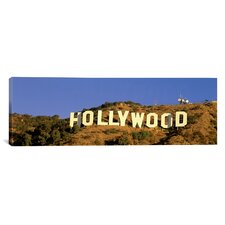 Panoramic Hollywood Sign Los Angeles, California Photographic Print on Canvas