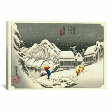 Ando Hiroshige 'Kambara' by Utagawa Hiroshige l Graphic Art on Canvas