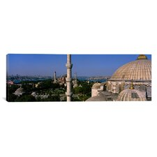 Panoramic Mosque of Sultan Ahmet I, Istanbul, Turkey Photographic Print on Canvas