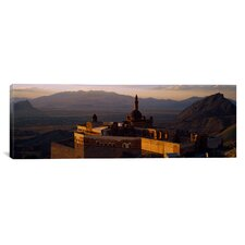 Panoramic High Angle View of a Palace, Ishak Pasha Palace, Dogubeyazit, Turkey Photographic Print on Canvas
