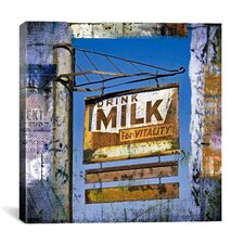 Drink Milk by Luz Graphics Graphic Art on Canvas