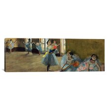 'Dancers Rail' by Edgar Degas Painting Print on Canvas